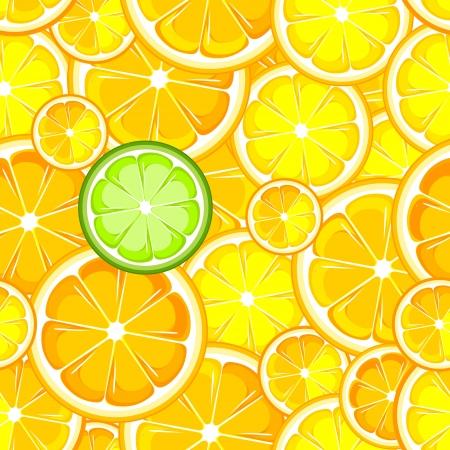 ベリー、フルーツ熟したレモンとライムのシームレスな壁紙
