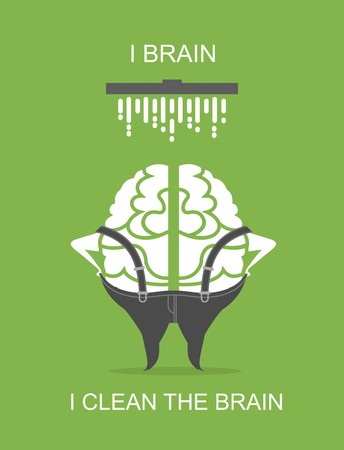 situations: business concept of the human brain stylized business character in different situations