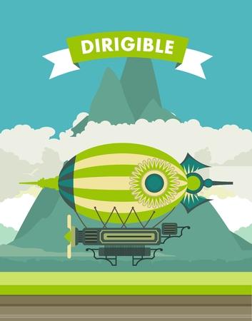 ballon dirigeable: Ballon dirigeable Illustration