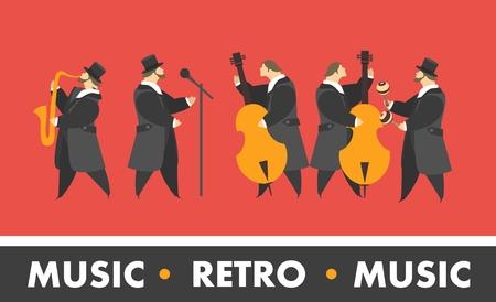 symphony orchestra: jazz band Illustration