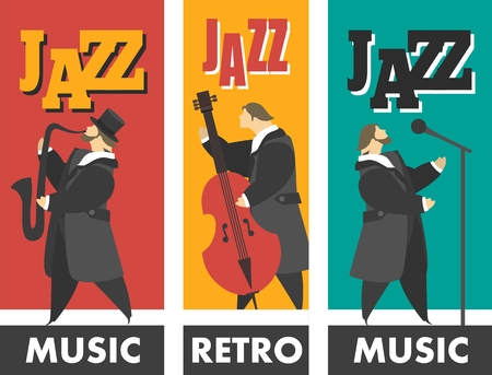 jazz band Stock Illustratie