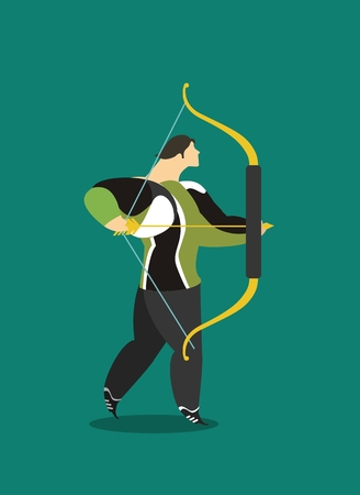 male athlete: male athlete athlete in sportswear archer takes aim well