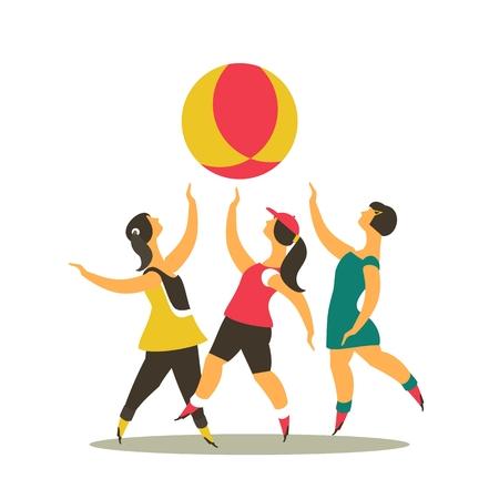 楽しんで: 様式化された文字各 drgua を走る子どもをプレイし、楽しい子供時代を象徴します。