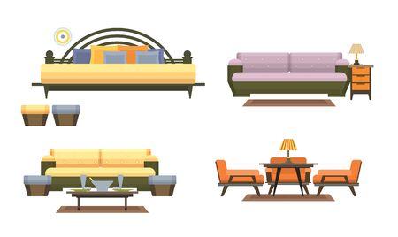 set of furniture Stock Vector - 42540133