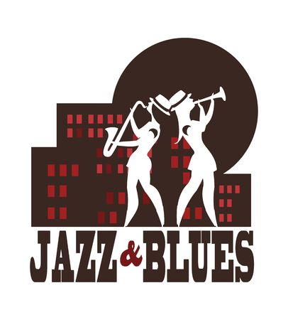Abstract jazz band, Jazz music party invitation design vector illustration