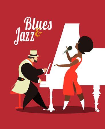 saxy: Abstract jazz band, Jazz music party invitation design vector illustration