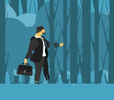 situations: vector illustration stylized businessman character in different situations Business