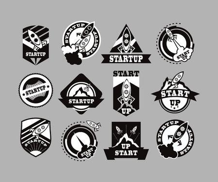 grey background: conjunto de iconos en blanco y negro de misiles sobre un fondo gris
