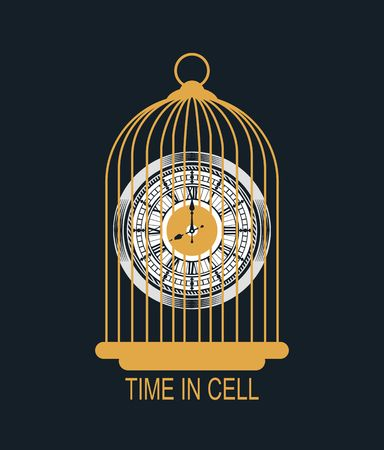 mechanist: vector illustration of mechanical watches in the cell style of steampunk