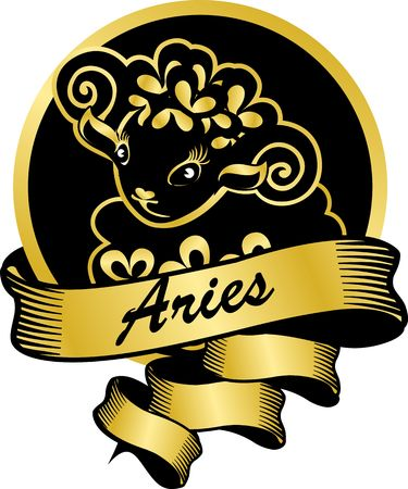aries zodiac: Portrait of Aries zodiac sign for horoscope and astrological predestination