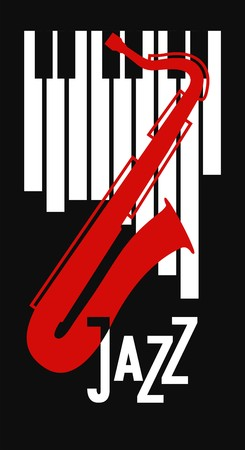 blues: vector poster on the theme music to jazz and blues