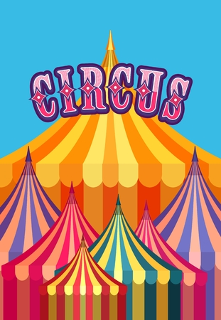 awnings: illustration carnival circus tent poster board bright picture of awnings