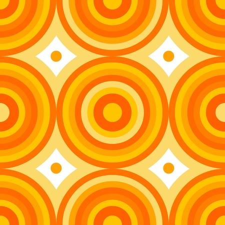 sectors: Abstract seamless pattern of circles and sectors spilling yellow shades Illustration