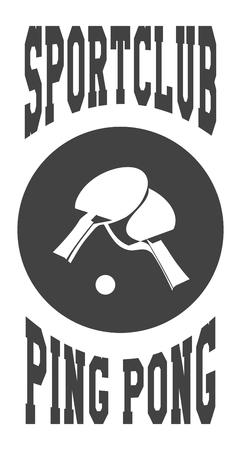 racquetball: ilustraci�n vectorial de un emblema del club deportivo en un fondo blanco Vectores