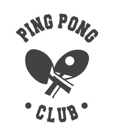 racquetball: ilustración vectorial de un emblema del club deportivo en un fondo blanco Vectores