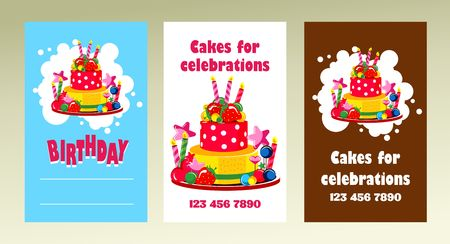 Vector business cards on holidays birthdays can be used for vector business cards on holidays birthdays can be used for printing advertising business reheart Images