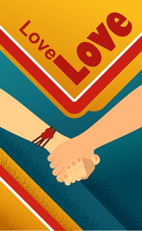 Vector Illustration Of Handshake Of Two Business People Friends