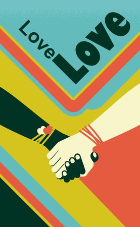 festivity: Vector illustration of handshake of two business people, friends, brothers symbol of trust cooperation and friendship