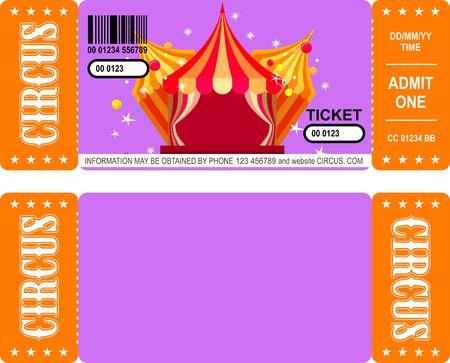 Ticket amusement park Illustration
