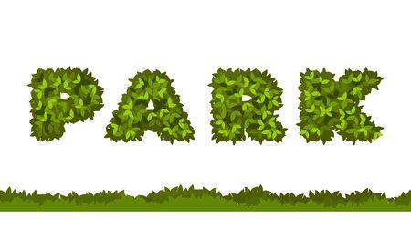 Vector illustration orthographe mots parc feuilles herbe isolé des lettres Banque d'images - 82683374