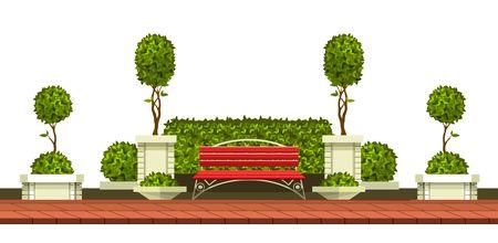 Placer des plantes de jardin sur une présentation simple. Banque d'images - 84740686
