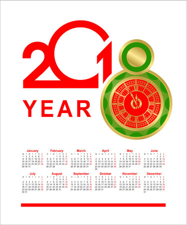 2018 calendar design Illustration