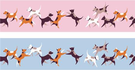 Illustration pattern of dogs.