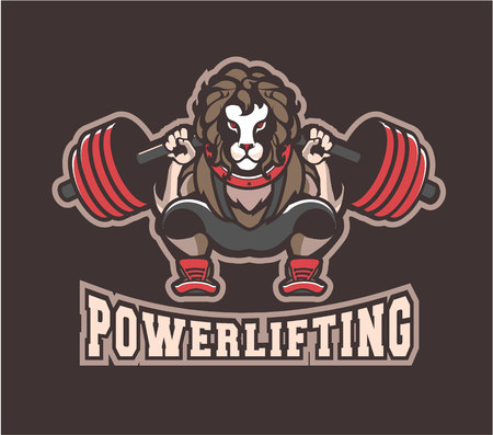 Vector illustration of sports emblem for power lifting gym