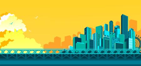 Bridge to megalopolis background
