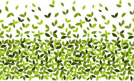 vector illustration seamless pattern spreads horizontally green leaves