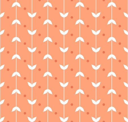 vector seamless pattern of multi-colored strips of simple leaves