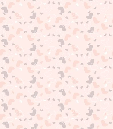 vector illustration seamless background patterns with hearts Illustration