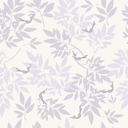 seamless pattern of tree branches of herbs with leaves on a dark background Illustration