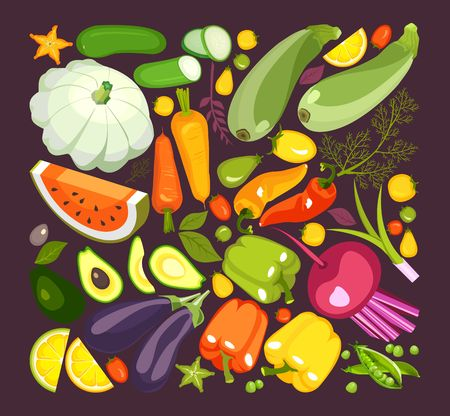 collection of ripe vegetables Standard-Bild - 103749049