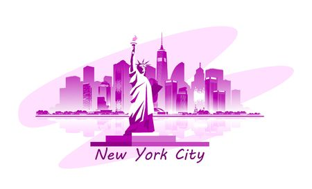 vector isolated image of new york city stylized on white background emblem or badge