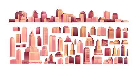 set of modern buildings