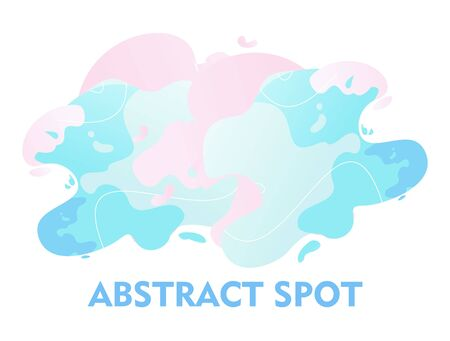 abstract spot, burst of light waves of pastel colors on a white background, vector illustration,