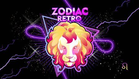 Leo zodiac sign Иллюстрация