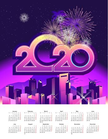 2020 calendar holiday city