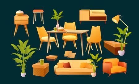 Set of furniture elements design