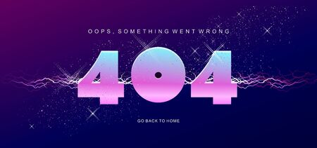 404 vector banner page template with banner error 向量圖像