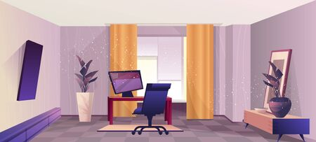 interior room of the home office