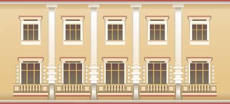 exterior wall window pattern vectir