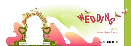 wedding arch for wedding ceremony template banner