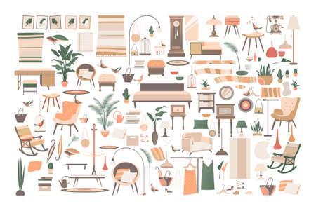 big set of home decor items