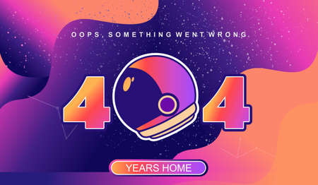 404 page not found, network error, space page with retro image, numbers with neon light in the starry sky, Social network problems, documents, posters, web page, vector creative design