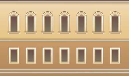 exterior wall window seamless pattern 向量圖像