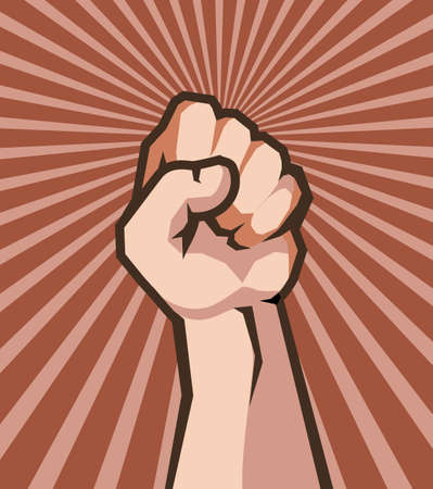 human hand in fist protest