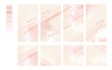 set of abstract design covers