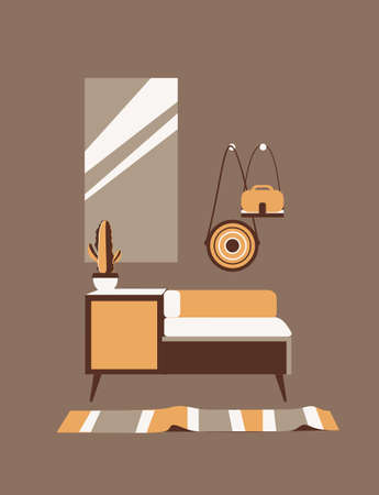 cute interior of a cozy room Illustration